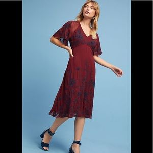Anthro Maeve Francoise Embroidered Dress